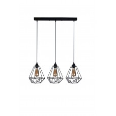 Chandelier Diamond S 3L black, 3xE27